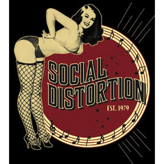 Social Distortion Aufkleber Pinup Girl