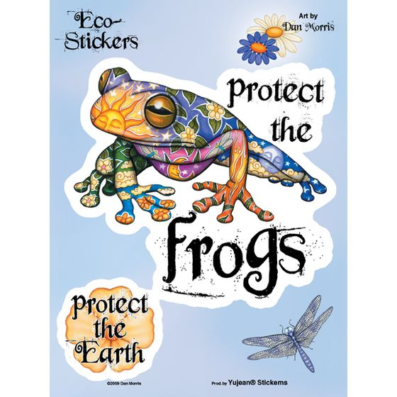 Aufkleber Set Protect the Frogs