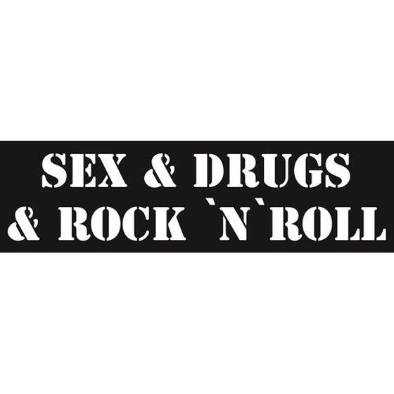Aufkleber Sex & Drugs & Rock N Roll