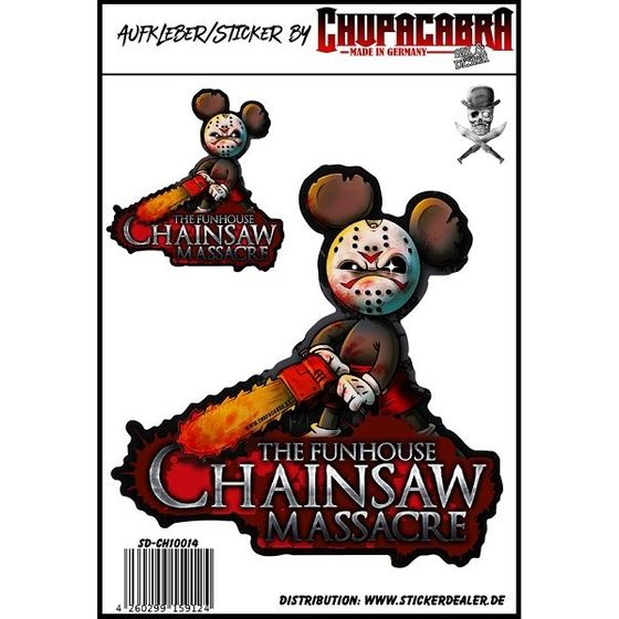 The Funhouse Chainsaw Massacre Aufkleber