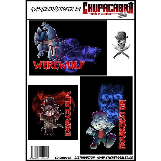 Fun Aufkleber Horror-Comics