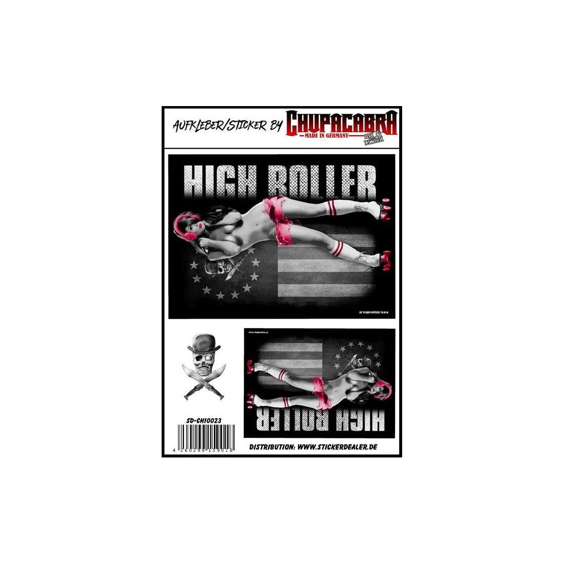 Aufkleber High Roller Girl