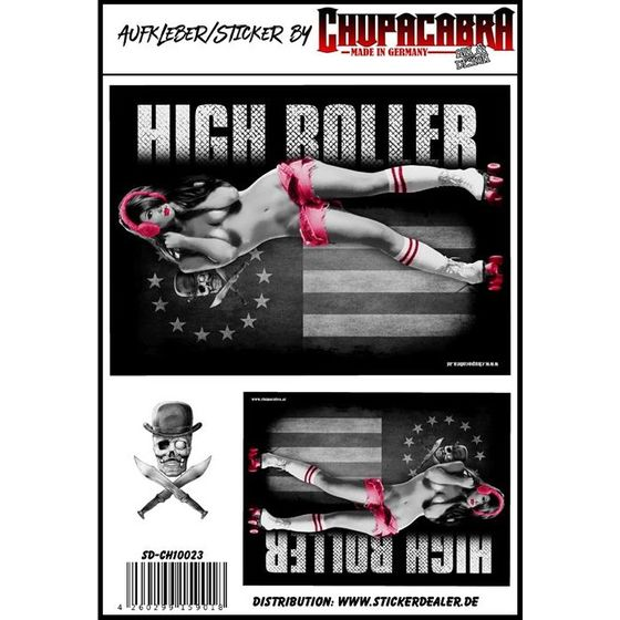 Aufkleber High Roller Girl
