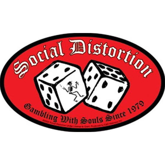 Social Distortion Aufkleber Gambling