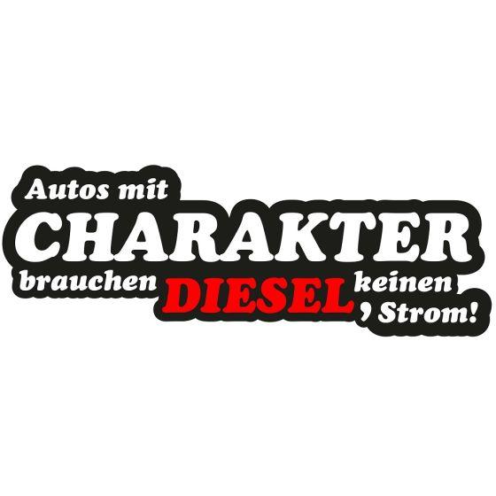 Aufkleber Autos Mit Charakter Brauchen Diesel Keinen Strom