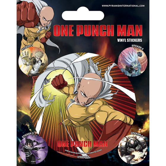 One Punch Man Aufkleber Set