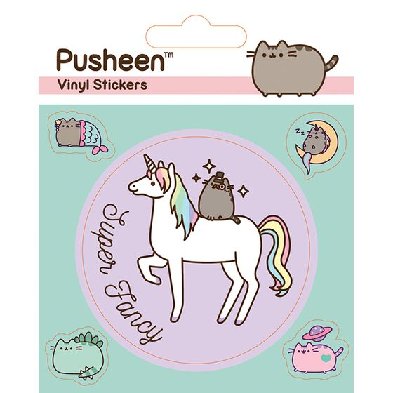 Pusheen The Cat Aufkleber Set Einhorn