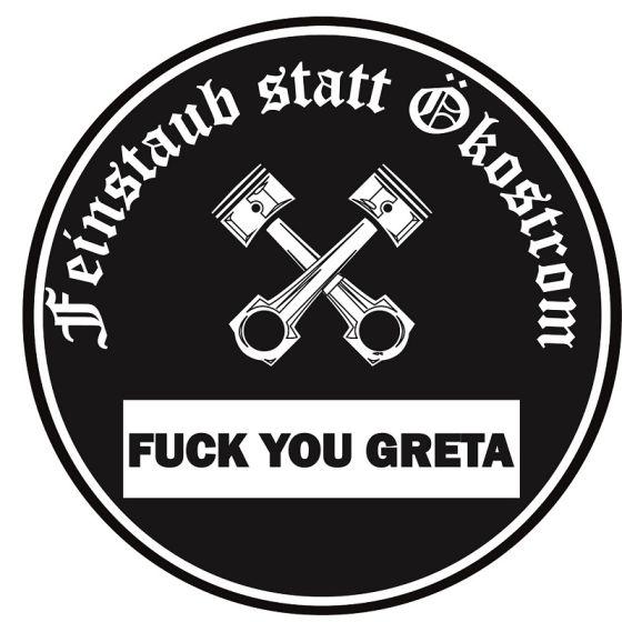Anti Greta Sticker Feinstaubplakettefu Greta
